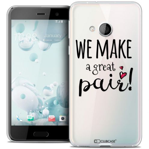 Coque Crystal Gel HTC U Play Extra Fine Love - We Make Great Pair