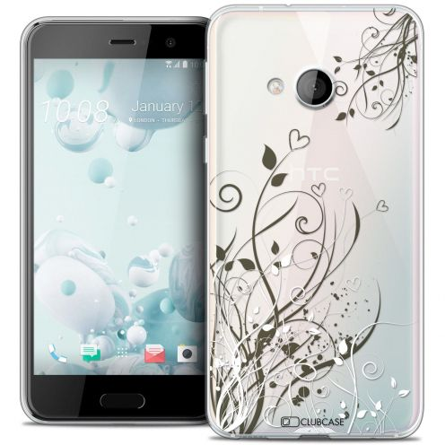 Coque Crystal Gel HTC U Play Extra Fine Love - Hearts Flowers