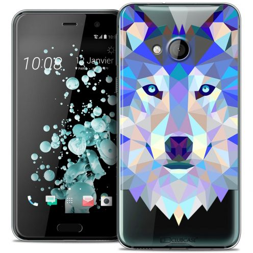 Coque Crystal Gel HTC U Play Extra Fine Polygon Animals - Loup