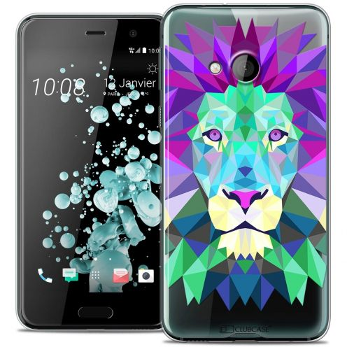 Coque Crystal Gel HTC U Play Extra Fine Polygon Animals - Lion