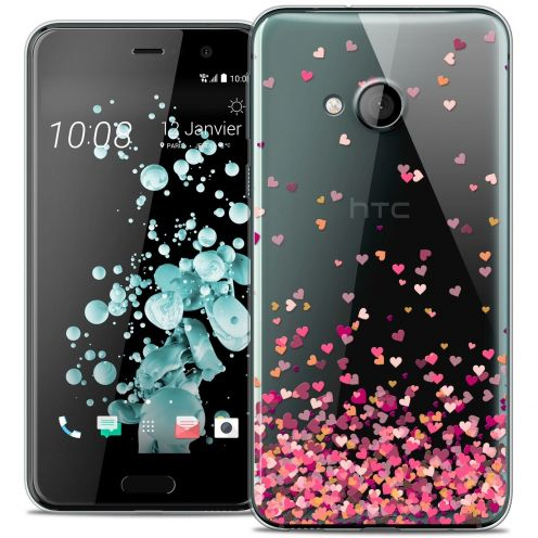 Coque Crystal Gel HTC U Play Extra Fine Sweetie - Heart Flakes