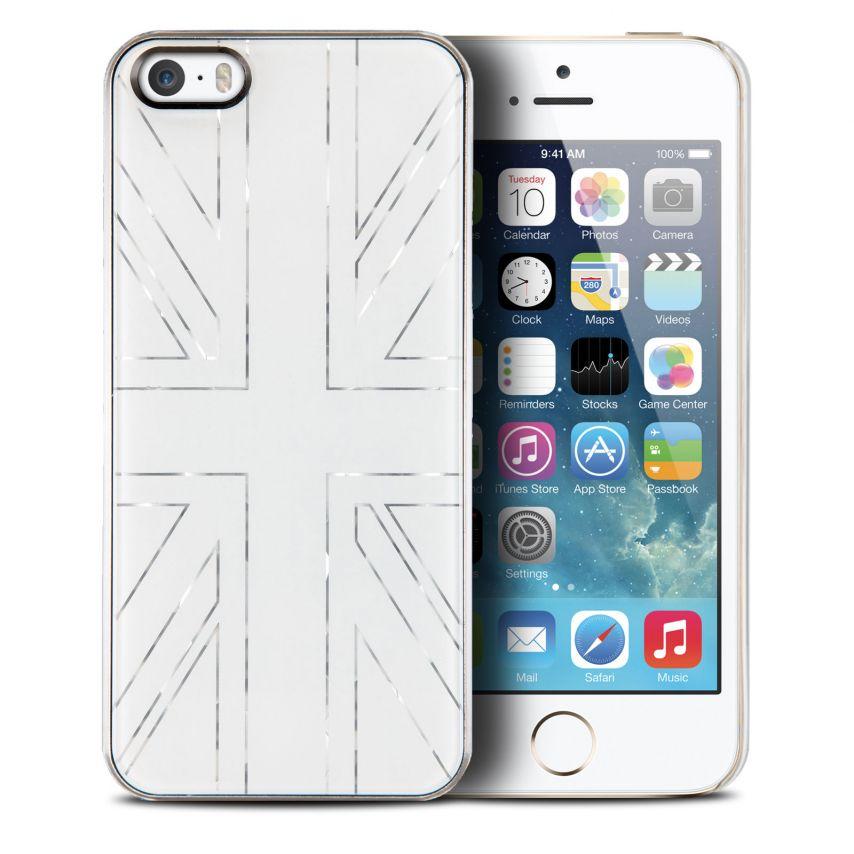 Visuel supplémentaire de Coque QDOS Smoothies Metallics UK Blanc pour iPhone 5/5S