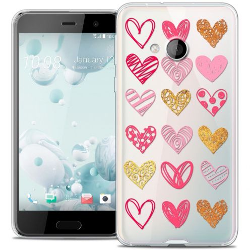 Coque Crystal Gel HTC U Play Extra Fine Sweetie - Doodling Hearts