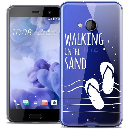 Coque Crystal Gel HTC U Play Extra Fine Summer - Walking on the Sand