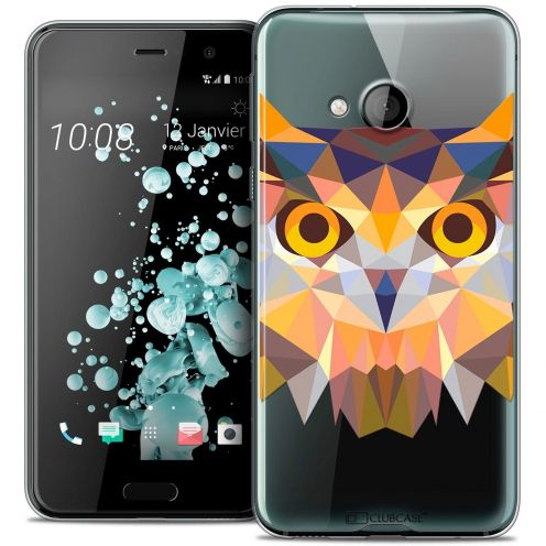 Coque Crystal Gel HTC U Play Extra Fine Polygon Animals - Hibou