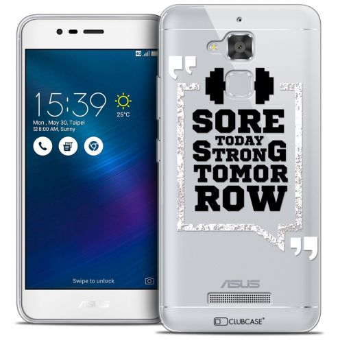 "Coque Crystal Gel Asus Zenfone 3 Max ZC520TL (5.2"") Extra Fine Quote - Strong Tomorrow"