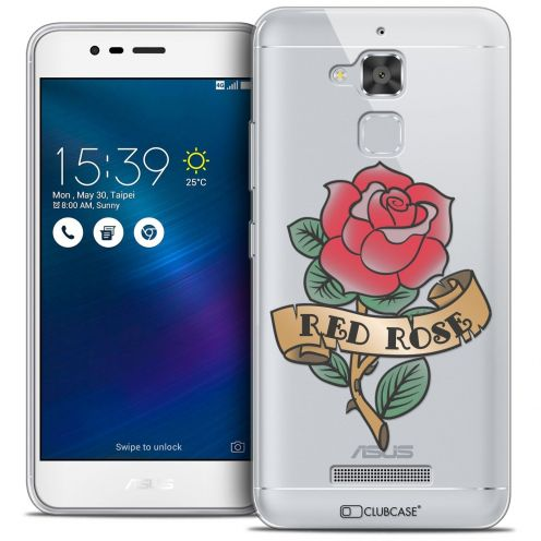 "Coque Crystal Gel Asus Zenfone 3 Max ZC520TL (5.2"") Extra Fine Tatoo Lover - Red Rose"