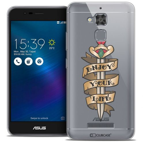"Coque Crystal Gel Asus Zenfone 3 Max ZC520TL (5.2"") Extra Fine Tatoo Lover - Enjoy Life"