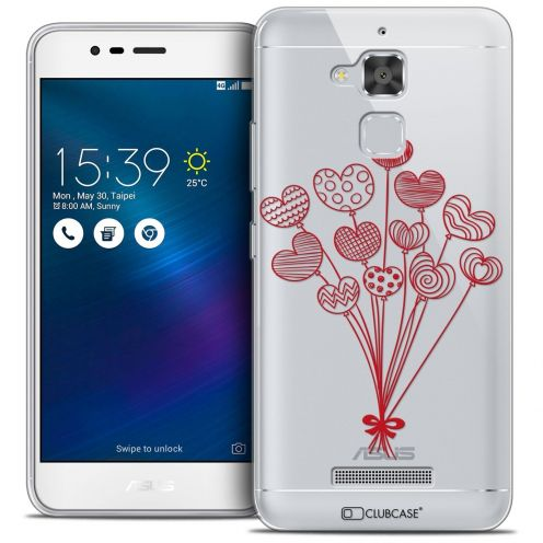 """Coque Crystal Gel Asus Zenfone 3 Max ZC520TL (5.2"""") Extra Fine Love - Ballons d'amour"""