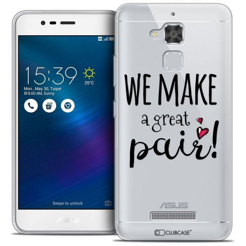 "Coque Crystal Gel Asus Zenfone 3 Max ZC520TL (5.2"") Extra Fine Love - We Make Great Pair"