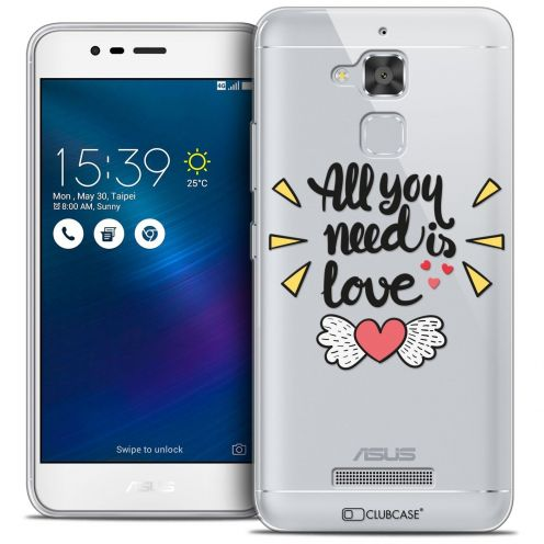 "Coque Crystal Gel Asus Zenfone 3 Max ZC520TL (5.2"") Extra Fine Love - All U Need Is"