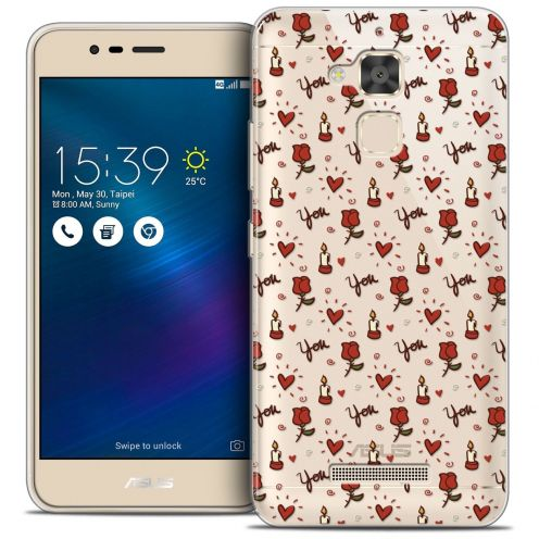 "Coque Crystal Gel Asus Zenfone 3 Max ZC520TL (5.2"") Extra Fine Love - Bougies et Roses"