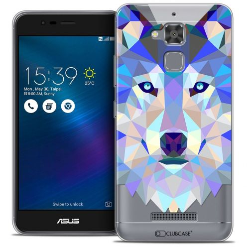 "Coque Crystal Gel Asus Zenfone 3 Max ZC520TL (5.2"") Extra Fine Polygon Animals - Loup"