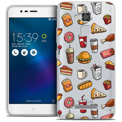 "Coque Crystal Gel Asus Zenfone 3 Max ZC520TL (5.2"") Extra Fine Foodie - Fast Food"