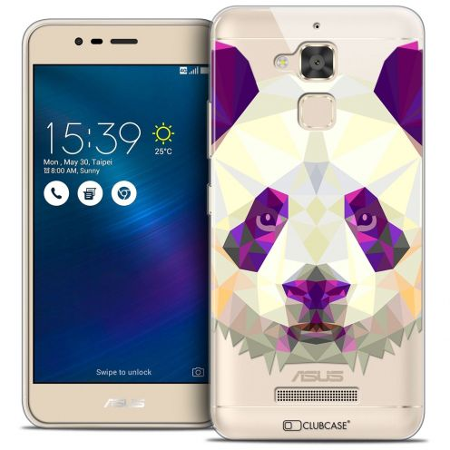 "Coque Crystal Gel Asus Zenfone 3 Max ZC520TL (5.2"") Extra Fine Polygon Animals - Panda"