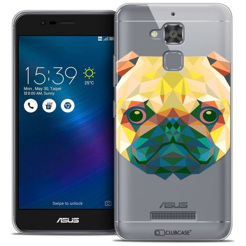 "Coque Crystal Gel Asus Zenfone 3 Max ZC520TL (5.2"") Extra Fine Polygon Animals - Chien"