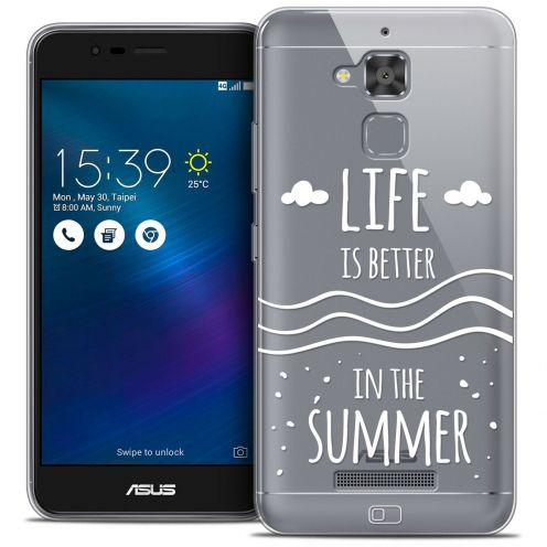 "Coque Crystal Gel Asus Zenfone 3 Max ZC520TL (5.2"") Extra Fine Summer - Life's Better"