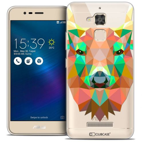 "Coque Crystal Gel Asus Zenfone 3 Max ZC520TL (5.2"") Extra Fine Polygon Animals - Cerf"