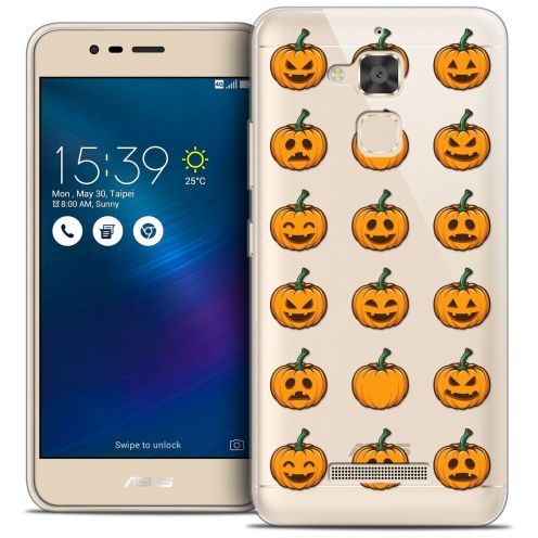 "Coque Crystal Gel Asus Zenfone 3 Max ZC520TL (5.2"") Extra Fine Halloween - Smiley Citrouille"