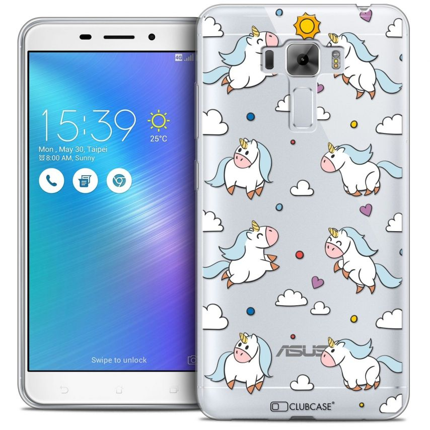 "Coque Crystal Gel Asus Zenfone 3 Laser ZC551KL (5.5"") Extra Fine Fantasia - Licorne In the Sky"